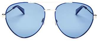 Polaroid Men's Polarized Aviator Sunglasses, 56mm