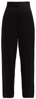 Haider Ackermann Contrast Stripe Twill Trousers - Womens - Black