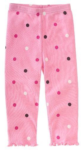 Gymboree Pink Polka Dot Ruffle Legging