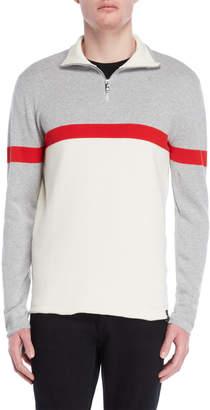 DKNY Color Block Quarter Zip Sweater