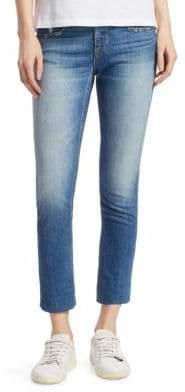 Rag & Bone Dre Slim-Fit Mid-Rise Ankle Unfinished-Hem Jeans