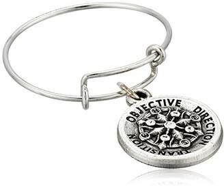 Alex and Ani Compass Expandable Rafaelian Silver Stackable Ring