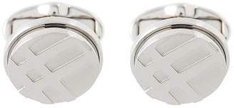 Burberry Round Cufflink With Engraved Logo