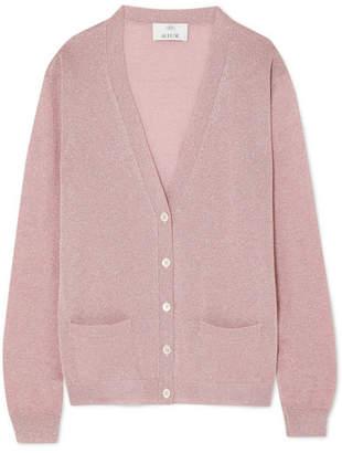 Allude Lurex Cardigan - Pink