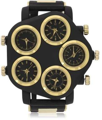 ICOCO Five Large Dial Street Punk Hip-Hop Cool Personality Rubber Strap Man Watch