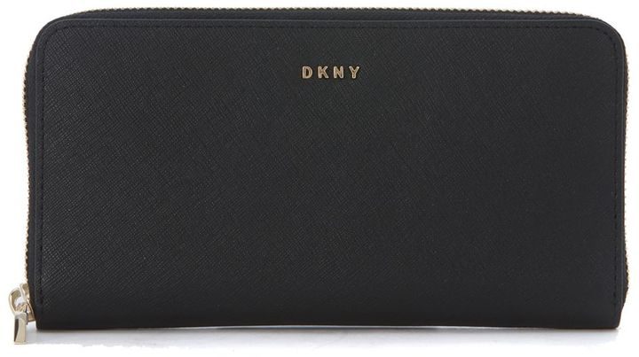 DKNYDkny Grey Saffiano Leather Wallet
