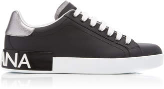 Dolce & Gabbana Portofino Leather Logo Sneakers