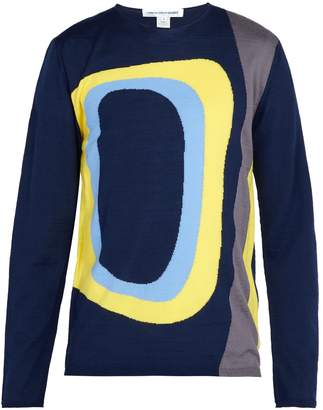 Comme des Garcons Abstract-intarsia wool-blend sweater