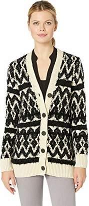 Lucky Brand Women's Diamond FAIR ISLE Cardigan Sweater