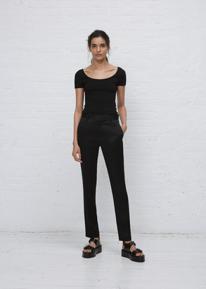 Haider Ackermann kuiper black / piping gold classic trousers $935 thestylecure.com