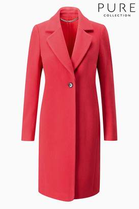 at Next Next Womens Pure Collection Coral Wool Single Breasted Coat