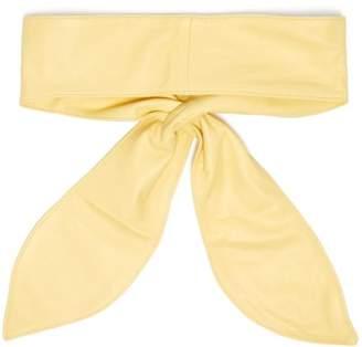 Isabel Marant Kressy Wide Leather Tie Belt - Womens - Yellow