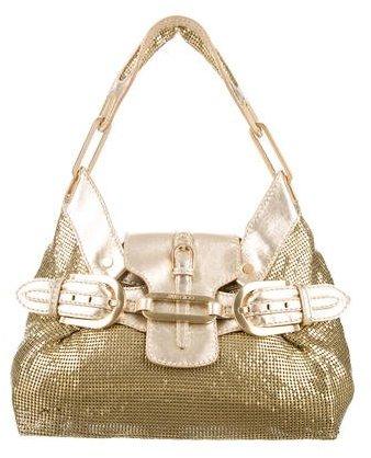 Jimmy ChooJimmy Choo Metallic Leather & Chainmail Tulita Bag