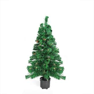 Northlight Seasonal 2-ft. Pre-Lit Color Changing Fiber Optic Artificial Christmas Tree
