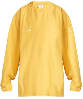 Vetements Shark-print cotton sweater