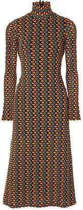 Beaufille - Opis Cutout Crochet-knit Midi Dress - Orange