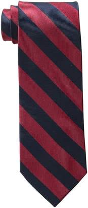 Piattelli Bruno Men's Tall-Plus-Size Extra Long Club Stripe Silk Tie