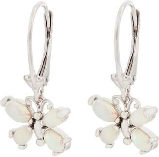 Turquoise or Ethiopian Opal Butterfly Earrings, Sterling Silver