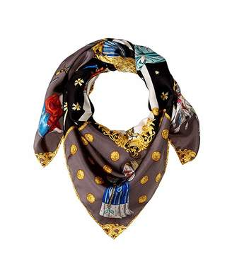 Echo In The Cards Silk Square Scarf