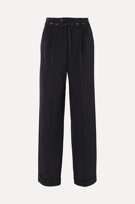 Maison Margiela Twill Wide-leg Pants - Navy