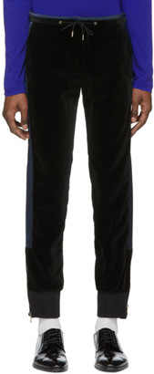 Paul Smith Black and Navy Velvet Lounge Pants