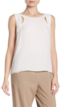 Go Silk Go by High/Low Silk Tank Top
