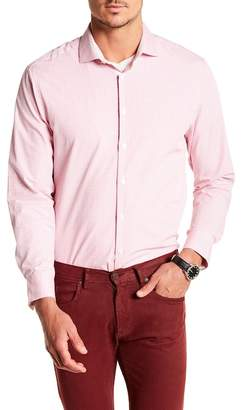 Michelson's Pink Fancy Check Print Slim Fit Shirt