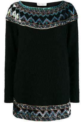 Alberta Ferretti sequins embellished jumper