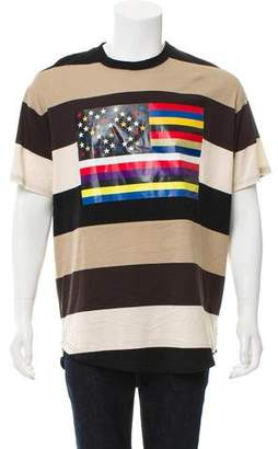 Givenchy American Flag Striped T-Shirt