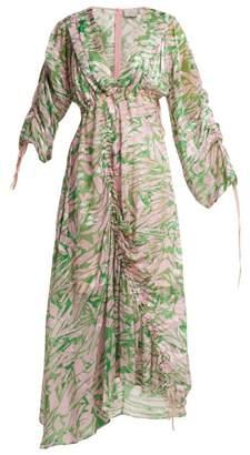 Preen by Thornton Bregazzi Cleo Silk Blend Midi Dress - Womens - Pink Multi
