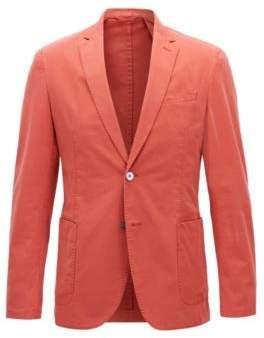 BOSS Hugo Garment-Dyed Cotton Sport Coat, Slim Fit Hanry D 40R Dark Orange