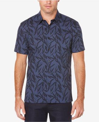 Perry Ellis Big & Tall Men's Leaf-Print Cotton Shirt $75 thestylecure.com