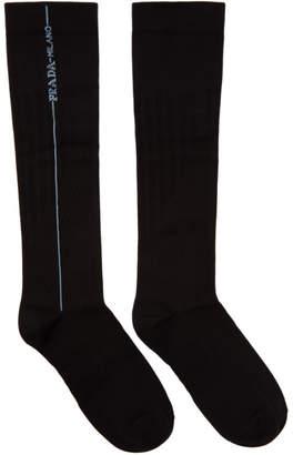 Prada Black Long Line Socks