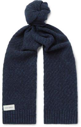 Oliver Spencer Arbury Mélange Waffle-Knit Wool Scarf