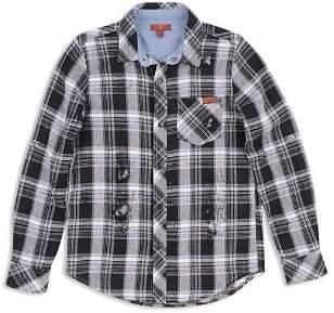 7 For All Mankind Boys' Distressed Plaid Shirt - Big Kid
