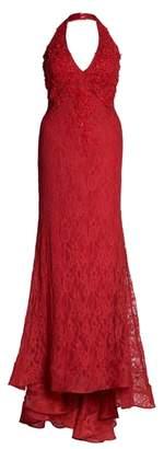 Mac Duggal MacDuggal Lace Halter Dress