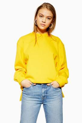 Topshop Womens Split Hem Sweatshirt