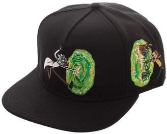 premium selection d53f1 537e6 Bioworld Rick and Morty Portal Adult Swim Snapback Hat
