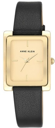 Women's Anne Klein Rectangular Leather Strap Watch, 28Mm X 35Mm $65 thestylecure.com