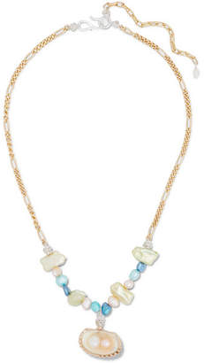 WALD Berlin - Lady Marmalade Gold-plated, Shell And Pearl Necklace