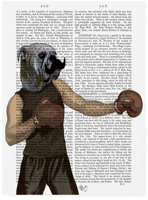 "Fab Funky Boxing Bulldog Gloves, Portrait Canvas Art - 15.5"" x 21"""