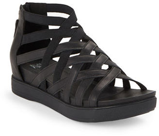 Eileen Fisher Airy Matte Washed Leather Sandals $195 thestylecure.com