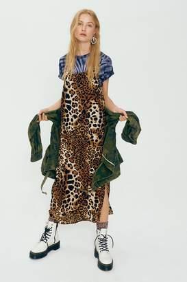 Nightcap Clothing Silken Leopard Maxi Dress