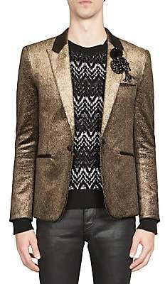 Saint Laurent Men's Metallic Button-Front Jacket