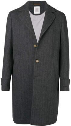 Eleventy single breasted overcoat