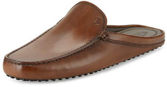 Tod's Gommini Benson Burnished-Leather Slipper, Brown