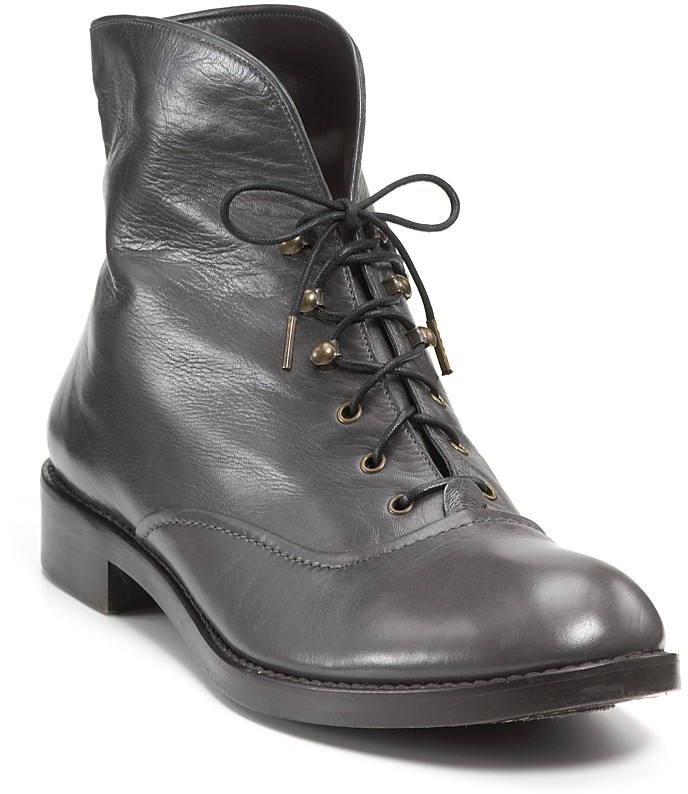 MARC BY MARC JACOBS Lace-Up Leather Combat Booties