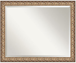 Amanti Art Florentine Gold Wall Mirror, Extra Large 31x25