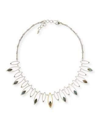 Coomi Marquis Labradorite & Diamond Station Necklace