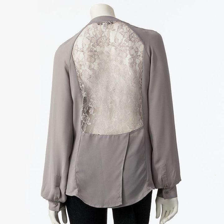 Lauren Conrad lace chiffon blouse - women's